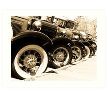 Classics Keep Rollin' Along Art Print