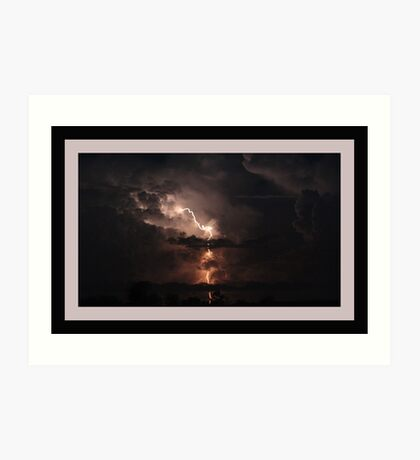 """""""The reason lightning doesn't strike twice in the same place is that the same place isn't there the second time."""" Art Print"""