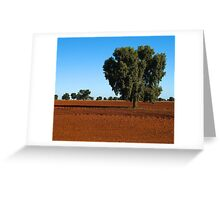 Red plains Greeting Card