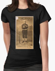 Benjamin K Edwards Collection Dell Darling Chicago White Stockings baseball card portrait 003 Womens Fitted T-Shirt