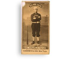 Benjamin K Edwards Collection Dell Darling Chicago White Stockings baseball card portrait 003 Canvas Print