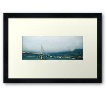 Bridge in the clouds Framed Print