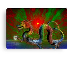 the year of the dragon Canvas Print