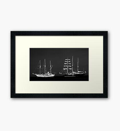 Galapagos Ships Framed Print