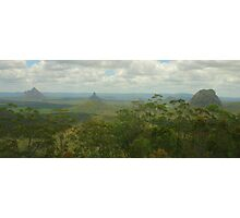 Glasshouse mountains pano Photographic Print