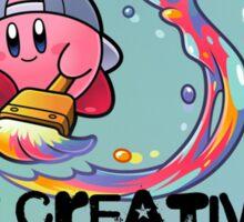 Kirby Paint Sticker
