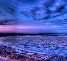 Canoe Pool Panaroma - Newcastle Beach - NSW Australia by Brad Woodman