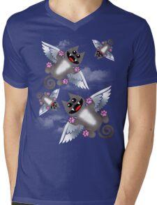 ANGEL FELINE Mens V-Neck T-Shirt