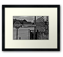 San Gregorio Intersection Framed Print