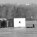 Ice Fishing On Rice Lake by nikspix