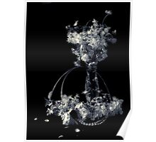 Still life with cherry flowers Poster