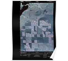 USGS Topo Map Washington State WA Steamboat Rock SE 20110425 TM Inverted Poster