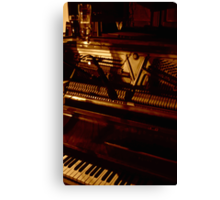 the piano has been drinking Canvas Print