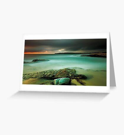 An Aqua Dawn Greeting Card