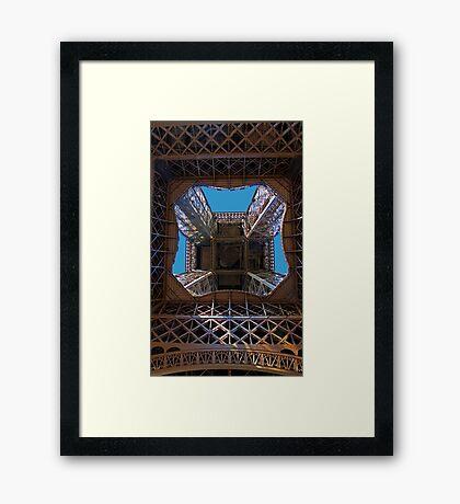 Eiffel Underbelly Framed Print