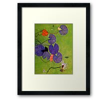Young Water Lillies Framed Print