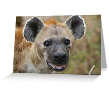 Spotted Hyaena #1 Greeting Card