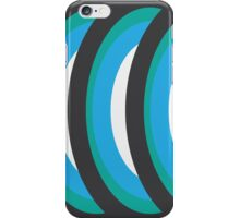 Concentric Blue Circles iPhone Case/Skin