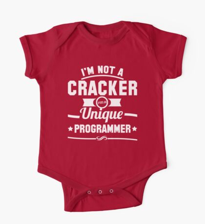 Programmer : I'm not a cracker, i'm a unique programmer One Piece - Short Sleeve