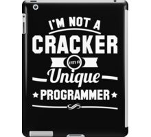 Programmer : I'm not a cracker, i'm a unique programmer iPad Case/Skin