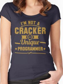 Programmer : I'm not a cracker, i'm a unique programmer Women's Fitted Scoop T-Shirt