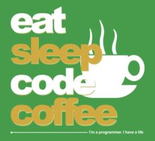 Programmer : eat, sleep, code, coffee One Piece - Short Sleeve