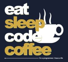 Programmer : eat, sleep, code, coffee Kids Tee