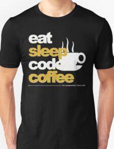 Programmer : eat, sleep, code, coffee T-Shirt