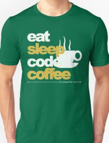 Programmer : eat, sleep, code, coffee T-Shirt