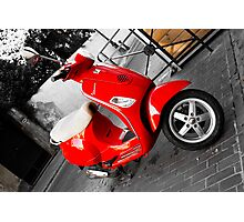 Vespa in France Photographic Print
