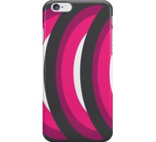 Concentric Magenta Circles iPhone Case/Skin