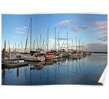 Boat Harbour, Scarborough, Queensland, Australia. Poster