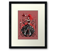 Queen of Hearts: Painting the Roses Red Framed Print