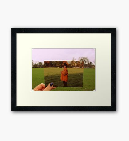 15/10/1992, a day before my twin and i were born 2 months premature  Framed Print