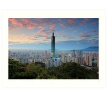 Taipei Sunset Art Print
