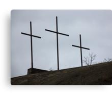 Località TRE CROCI - in onore a Gesù Cristo....ITALY. RB EXPLORE 10 GENNAIO 2013- Canvas Print