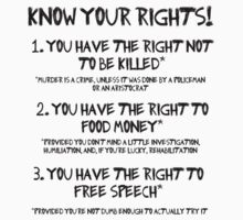 Know your rights! by Leatherface