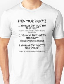 Know your rights! T-Shirt