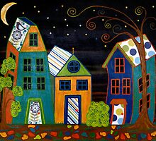Nightfall ~ the stars shine as peace and quiet arrives. by Lisa Frances Judd ~ Original Australian Art