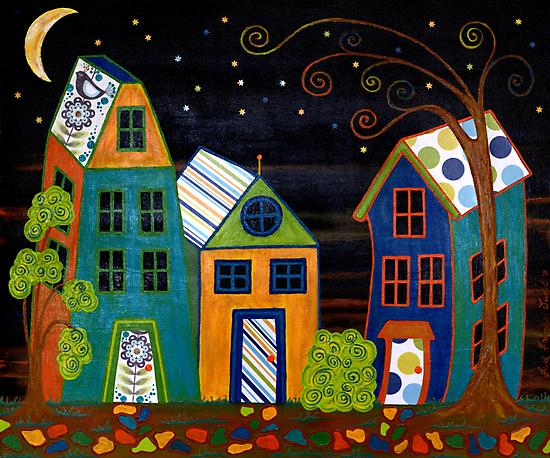 Nightfall by Lisa Frances Judd~QuirkyHappyArt