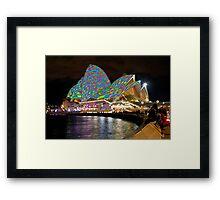 Checked Opera House Framed Print