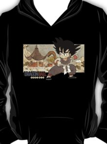 Son Goku on Mt. Paozu T-Shirt