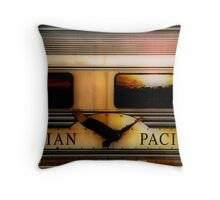 Sunset on the Indian Pacific Throw Pillow