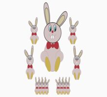 Easter Bunnies T-Shirt by Dennis Melling