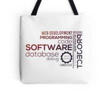 Programmer : Typography Programming -  color Tote Bag