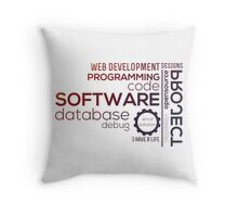 Programmer : Typography Programming -  color Throw Pillow