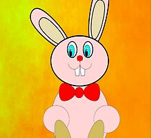 Easter Bunny iPhone Case by Dennis Melling