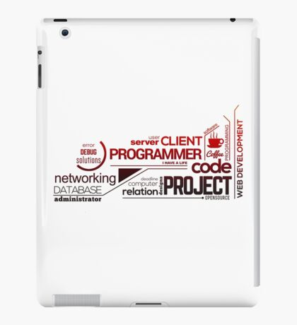 Programmer : Typography Programming - 2 iPad Case/Skin