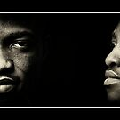African American Male Black and White Portrait Photography. by upthebanner