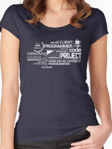 Programmer : Typography Programming - 2 Women's Fitted Scoop T-Shirt